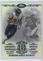 Marcus Allen, LaDainian Tomlinson /100