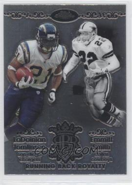 2007 Topps Chrome Running Back Royalty #RBRD-TSM - Emmitt Smith, LaDainian Tomlinson