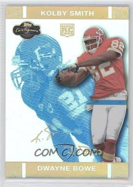 2007 Topps Co-Signers - [Base] - Blue Changing Faces Hyper Gold #76 - Dwayne Bowe /25