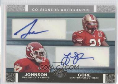 2007 Topps Co-Signers Dual Autographs Gold #CSA-GJ - Frank Gore, Larry Johnson /25