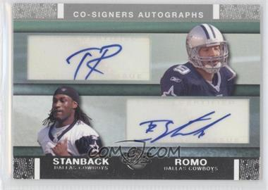 2007 Topps Co-Signers Dual Autographs #CSA-RS - Tony Romo, Isaiah Stanback