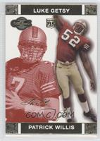 Patrick Willis, Luke Getsy /399