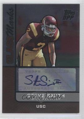 2007 Topps Draft Picks and Prospects (DPP) - Class Marks Autographs - Silver Foil #CM-USC - Steve Smith /75