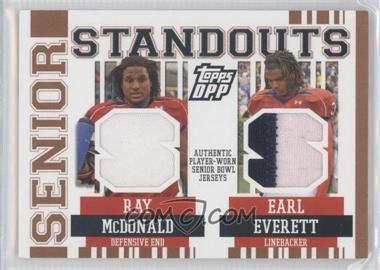 2007 Topps Draft Picks and Prospects (DPP) - Senior Standouts Senior Bowl Combo Relics - Prime #SSCR-ME - Earl Evans, Earl Everett /49