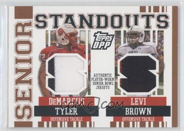 2007 Topps Draft Picks and Prospects (DPP) Senior Standouts Senior Bowl Combo Relics Prime #SSCR-TB - DeMarcus Tyler, Levi Brown /49