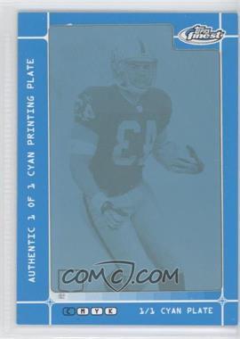 2007 Topps Finest - [Base] - Framed Printing Plate Cyan #116 - Michael Bush /1