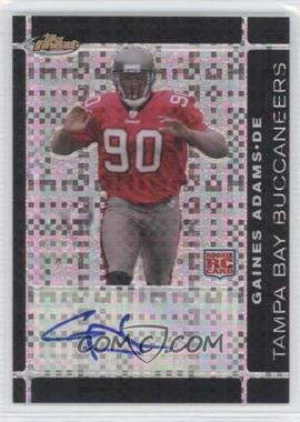 2007 Topps Finest - [Base] - Rookie Autographs Black X-Fractor [Autographed] #146 - Gaines Adams /10