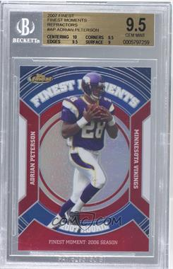 2007 Topps Finest - Rookie Finest Moments - Refractor #RFM-AP - Adrian Peterson [BGS9.5]