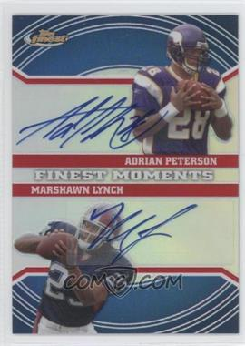 2007 Topps Finest Finest Moments Dual Autographs Refractor #FMDA-PL - Adrian Peterson, Marshawn Lynch /10