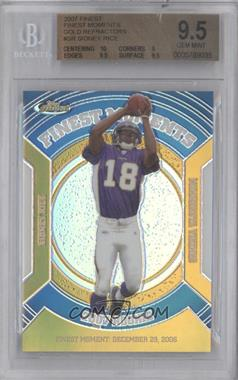 2007 Topps Finest Rookie Finest Moments Gold Refractor #RFM-SR - Sidney Rice /50 [BGS 9.5]