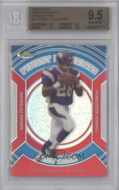 2007 Topps Finest Rookie Finest Moments Refractor #RFM-AP - Adrian Peterson [BGS 9.5]