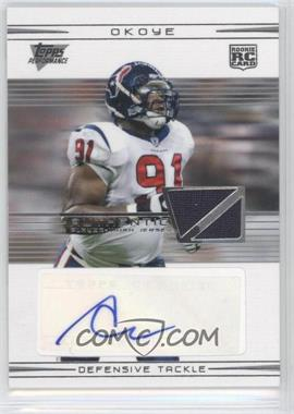 2007 Topps Performance Rookie Relic Autographs Silver [Autographed] [Memorabilia] #131 - Amobi Okoye /25