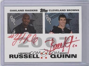2007 Topps Rookie Premiere Quad Autographs Red Ink #N/A - JaMarcus Russell, Brady Quinn, Drew Stanton