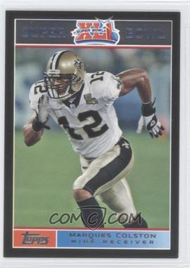 2007 Topps Super Bowl XLI - [Base] - Black #12 - Marques Colston /199