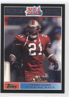 2007 Topps Super Bowl XLI - [Base] - Black #8 - Frank Gore /199