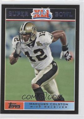 2007 Topps Super Bowl XLI Black #12 - Marques Colston /199
