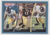Clark Haggans, James Farrior, Larry Foote