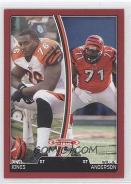 2007 Topps Total Red #111 - Levi Jones, Willie Anderson