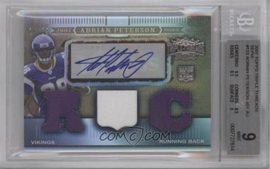 2007 Topps Triple Threads - [Base] - Sepia #123 - Adrian Peterson /89 [BGS 9]