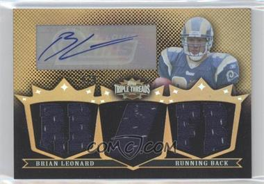 2007 Topps Triple Threads Autographed Relics Gold #TTRA45 - Brian Leonard /9
