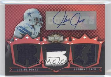 2007 Topps Triple Threads Autographed Relics #TTRA153 - Julius Jones /18