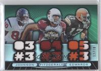 Andre Johnson, Larry Fitzgerald, Braylon Edwards /18