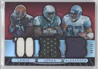 Jamal Lewis, Thomas Jones, Shaun Alexander /36