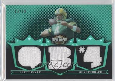 2007 Topps Triple Threads Relics Emerald #TTR72 - Brett Favre /18