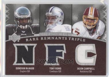 2007 UD Premier - Rare Remnants Triple #RR3-MRC - Donovan McNabb, Jason Campbell, Tony Romo /50