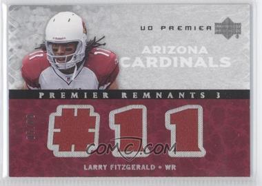 2007 UD Premier - Remnants 3 - Silver #PR3-LF - Larry Fitzgerald /99