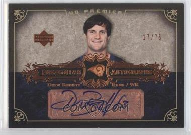 2007 UD Premier Insignias Autographs Bronze #IN-BE - Drew Bennett /75