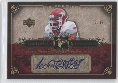 2007 UD Premier Insignias Autographs #IN-JA - Jamaal Anderson /99
