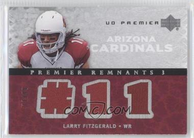 2007 UD Premier Premier Remnants 3 Silver #PR3-3 - Larry Fitzgerald /99