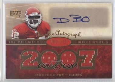 2007 UD Premier Premier Rookie Autographed Materials #145 - Dwayne Bowe /175