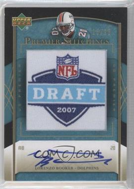 2007 UD Premier Premier Stitchings Draft Logo Autographs [Autographed] #PS-13 - Lorenzo Booker /25