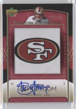 2007 UD Premier Premier Stitchings Draft Logo Autographs [Autographed] #PS-36 - Steve Young /25