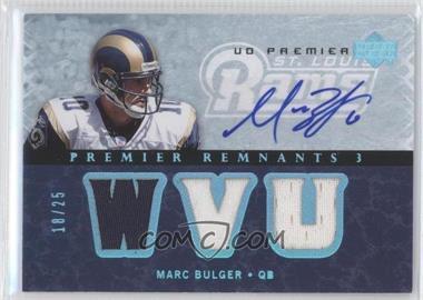 2007 UD Premier Remnants 3 Platinum Autographs [Autographed] #PR3-MB - Marc Bulger /25