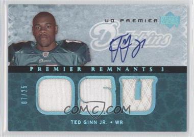 2007 UD Premier Remnants 3 Platinum Autographs [Autographed] #PR3-TG - Ted Ginn Jr. /25