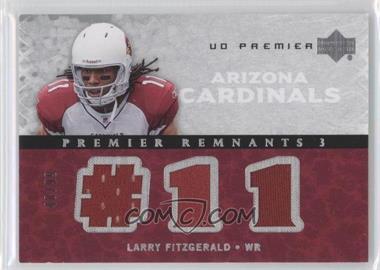 2007 UD Premier Remnants 3 Silver #PR3-LF - Larry Fitzgerald /99