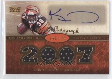 2007 UD Premier Rookie Autographed Materials #153 - Kenny Irons /175