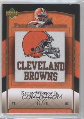 2007 UD Premier Stitchings Draft/Team Logos Bronze #PS-48 - Kellen Winslow Jr. /50