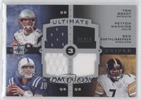 Tom Brady, Peyton Manning, Ben Roethlisberger /50
