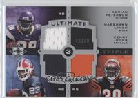 Adrian Peterson, Marshawn Lynch, Ken Irvin /50