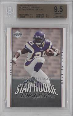 2007 Upper Deck - [Base] - Rookie Exclusives #279 - Adrian Peterson [BGS9.5]