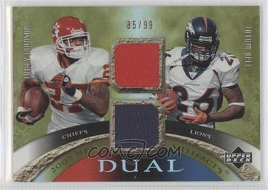 2007 Upper Deck Artifacts - Dual Artifacts #DA-JB - Tatum Bell, Larry Johnson /99