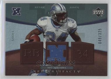 2007 Upper Deck Artifacts - NFC Apparel - Patch #NFC-KJ - Kevin Jones /50