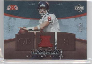 2007 Upper Deck Artifacts AFC Apparel Patch #AFC-BC - David Carr /50