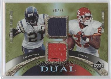 2007 Upper Deck Artifacts Dual Artifacts #DA-TJ - LaDainian Tomlinson, Larry Johnson /99