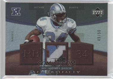 2007 Upper Deck Artifacts NFC Apparel Patch #NFC-KJ - Kevin Jones /50