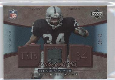 2007 Upper Deck Artifacts NFL Artifacts Patch #NFL-JO - LaMont Jordan /50